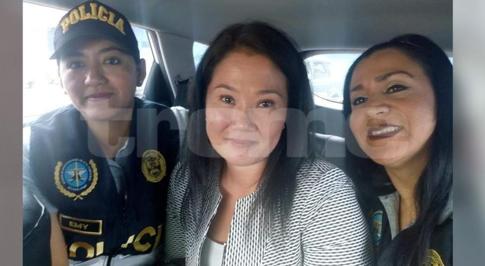 Keiko Fujimori: Policías se tomaron selfie con lideresa de Fuerza Popular