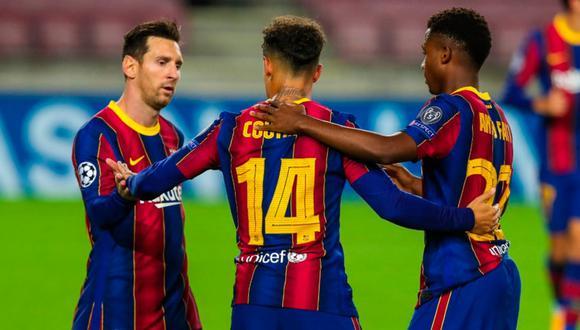 Con gol de Lionel Messi, Barcelona goleó a Ferencváros por la fecha 1 de la Champions League. FOTO: Barcelona
