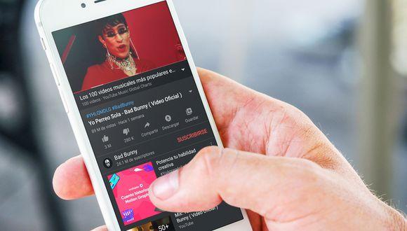 ¿Quieres escuchar tu música favorita sin tener la pantalla del celular encendida? Usa este truco de YouTube. (Foto: YouTube)