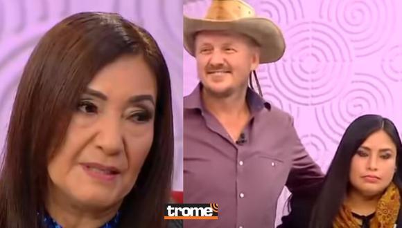 Flor de Huaraz y el 'Gringo Karl' fueron protagonistas de enfrentamientos en vivo en el programa de Andrea Llosa. (Foto: Captura)