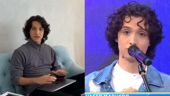 Vasco Madueño agradeció encarecidamente a Magaly Medina por la computadora que le envió. (Instagram / Captura TV)