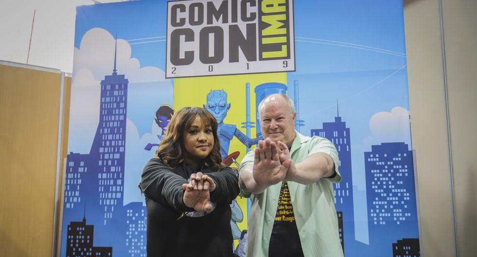 El recordado 'Zordon' y la 'Power Ranger Amarilla' compartieron con sus seguidores en la Comic Con 2019.