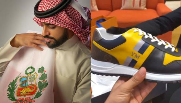 Yaqoob Mubarak presumió las zapatillas que adquirió por Navidad. (Instagram)