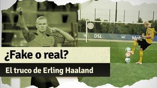 Erling Haaland demuestra toda su habilidad con el balón en video viral