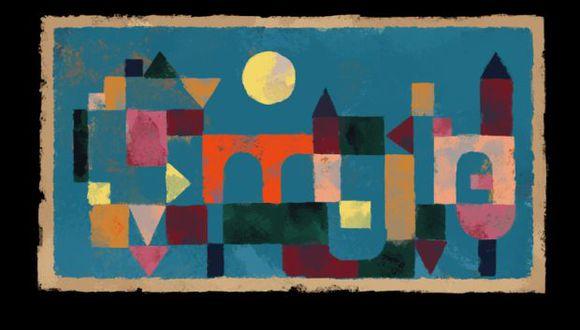 Hoy, 18 de diciembre, Google recuerda al artista Paul Klee en el 139 aniversario de su nacimiento honrando su obra Rote Brücke (Puente Rojo).