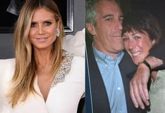 Heidi Klum niega haber viajado en los aviones privados de Jeffrey Epstein