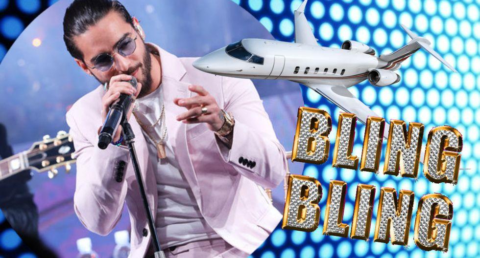 Instagram: Maluma vuela alto y lleno de lujos en su avión privado