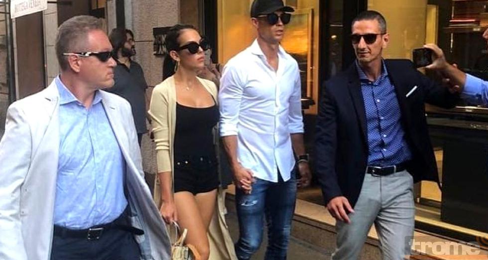 Cristiano Ronaldo sorprendió a sus seguidores visitando lujosas tiendas en un boulevard de Milán