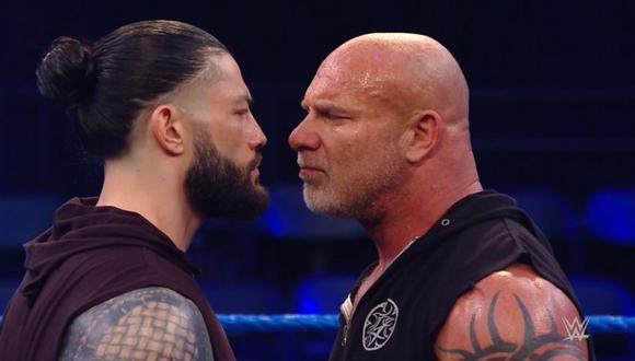 Roman Reings y Goldbert tuvieron tenso cara a cara. (WWE)