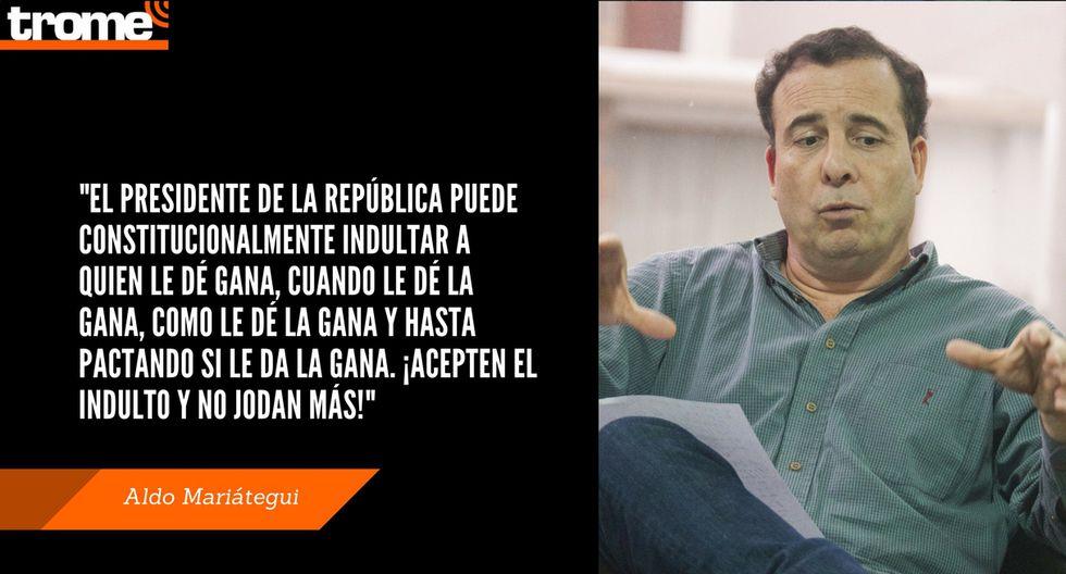 Aldo Mariátegui volvió a arremeter contra la izquierda y los jóvenes. Composición: Trome