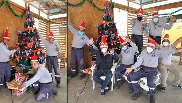 Los mismos chicos se animaron a armar el arbolito. Buscaron los materiales que necesitaban y se pusieron manos a la obra.