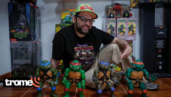 Rapero tiene enorme colección de las Tortugas Ninja