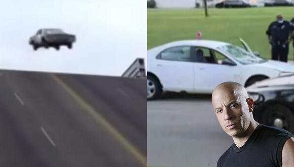 Un conductor creyó que se encontraba en una película de acción y saltó un puente levadizo con su auto a toda velocidad. | Crédito: Click On Detroit | Local 4 | WDIV / IMDB.