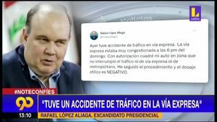 Rafael López Aliaga se pronunció tras su intervención en la Vía Expresa del Metropolitano
