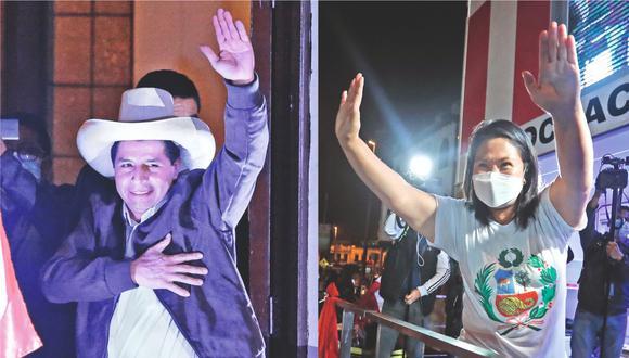 Pedro Castillo (Perú Libre) y Keiko Fujimori (Fuerza Popular).