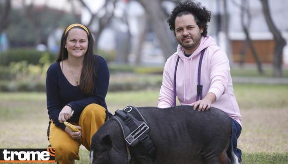 A Lorenzo le encanta estar mucho tiempo en el parque, pero lo disfruta más si está al lado de Piero y Vanessa.   Foto: José Bashe.