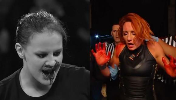 Shayna Baszler atacó cruelmente a Becky Lynch. (Captura TV)
