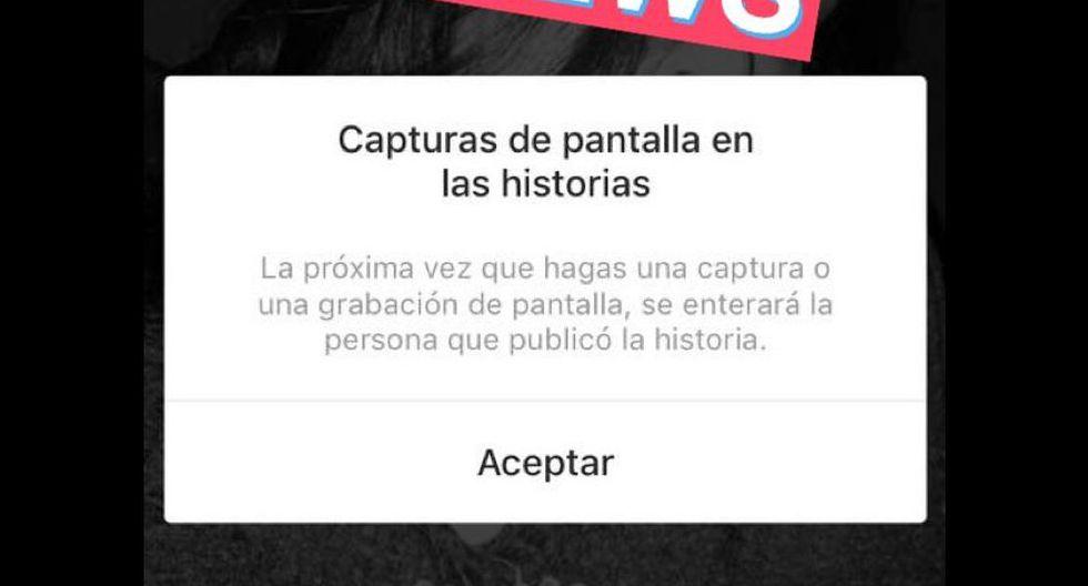 Instagram ahora notifica si alguien tomó una captura de pantalla a tus historias