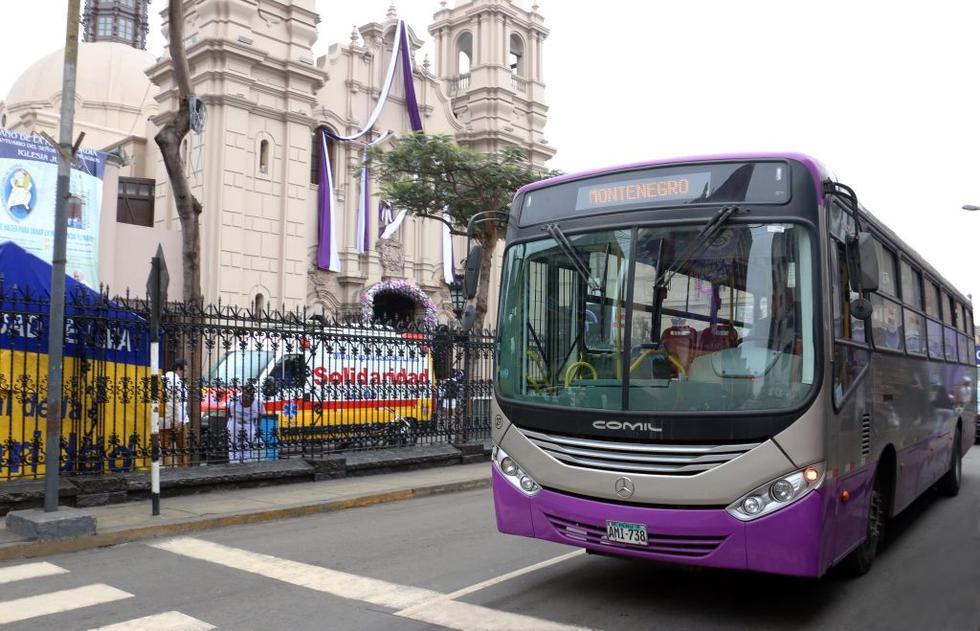 Buses del Corredor vial San Juan de Lurigancho inician su ruta en la avenida Wiesse y ampliarán su recorrido hasta la avenida Tacna. (Foto: Difusión)