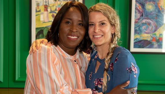 Tia Wimbush y Susan Ellis: cada una le donó un riñón al esposo de la otra. (Foto: Children's Healthcare of Atlanta)