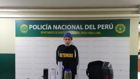 El exreo Alvaro Gabriel Salcedo López (38), quien hace unos años estuvo preso por tener 40 kilos de marihuana, fue nuevamente detenido cuando vendía la misma sustancia vía delvery.