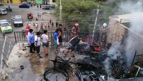 Ica: menor de tres años muere calcinada tras incendiarse su vivienda (Foto: Difusión)