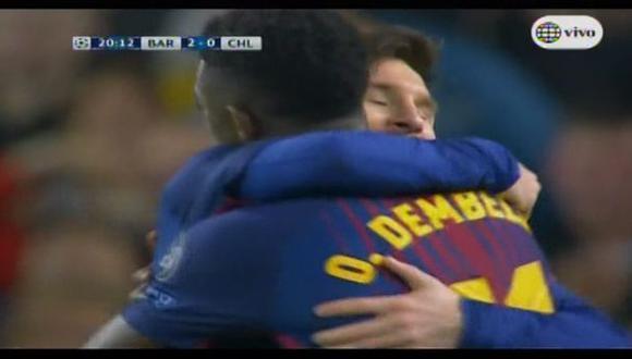 Gol de Dembélé a Chelsea