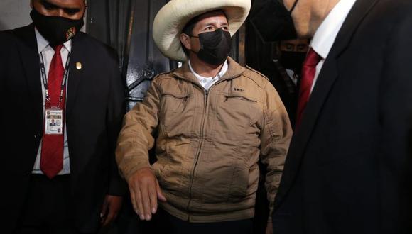 El candidato a la presidencia por Perú Libre se refirió sobre el caso que se sigue contra los Dinámicos del Centro. (Foto: Andrés Paredes)