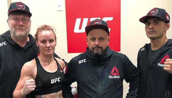 Valentina Shevchenko y el equipo de profesionales que tiene a su lado.