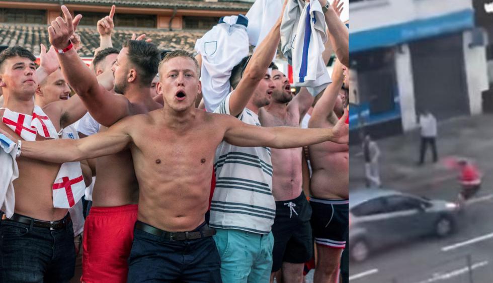 Los hinchas de Inglaterra estallaron en euforia tras el triunfo de su selección en el Mundial Rusia 2018. (EFE/Captura)