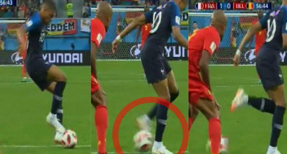 Francia vs Bélgica: Kylian Mbappé y su sensacional pase de taco a Giroud que no terminó en GOL de milagro | VIDEO