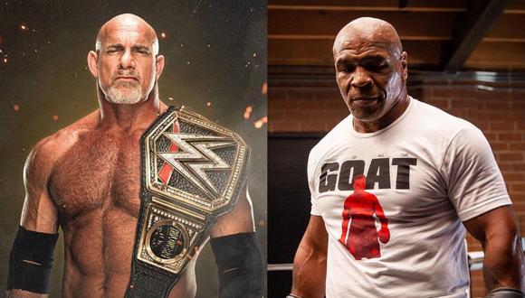 La leyenda de la lucha libre Goldberg sigue el ejemplo de Mike Tyson, quien hace unos meses peleó con Roy Jones Jr. (WWE/ Instagram Mike Tyson)