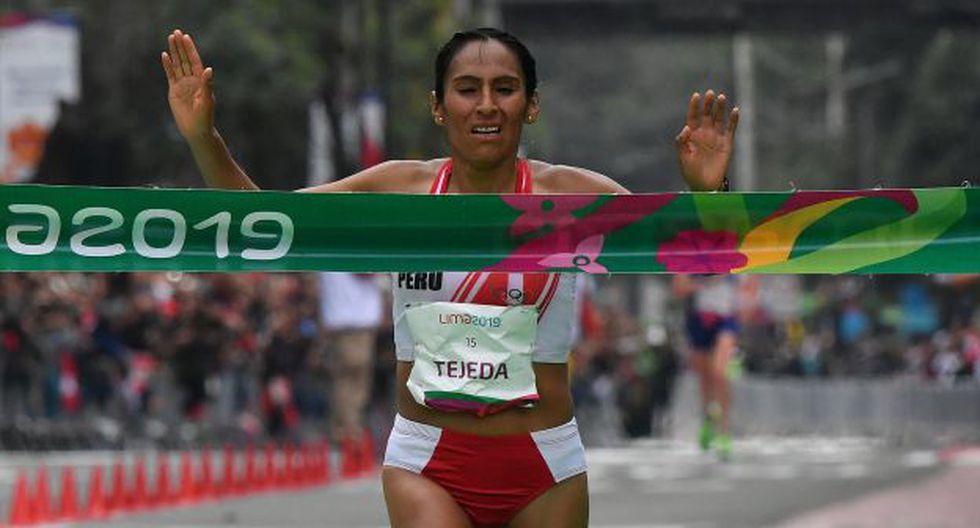 Gladys Tejeda terminó sexta en la clasificación general de la categoría femenina de la Maratón de Sevilla.