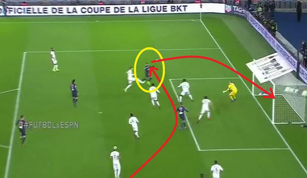 PSG vs Guingamp: Gol de Neymar (Fuente: ESPN)