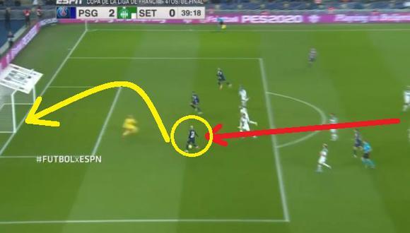 Golazo de Neymar: Un globito exquisito tras asistencia perfecta de Di María  en el PSG vs. Saint-Étienne por la Copa de la Liga   Video