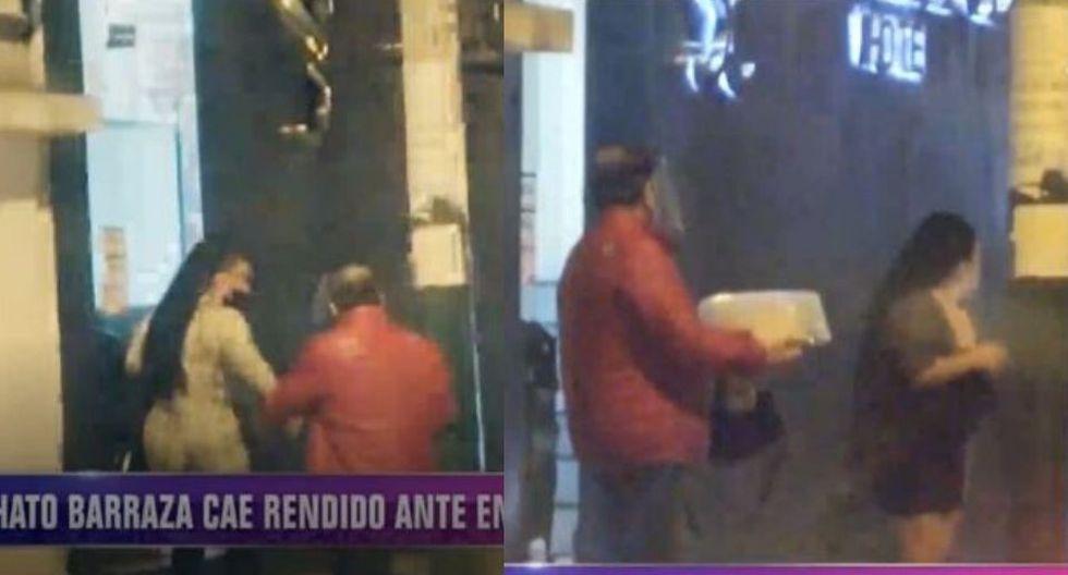 Paloma de la Guaracha y el Chato Barraza van a hotel y salen con torta de tres leches