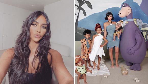 La menor tuvo miedo del disfraz de Dino, quien era su padre Kanye West. (Foto: @kimkardashian)