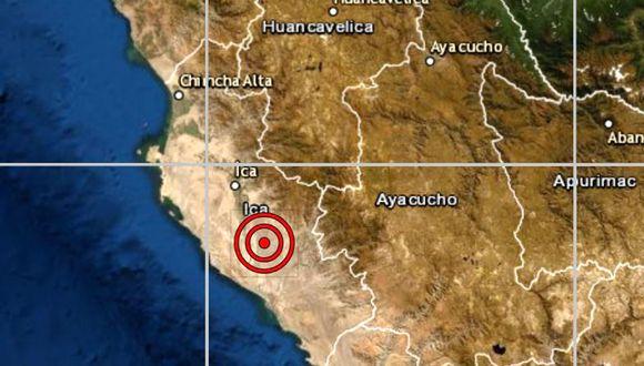 De acuerdo con el IGP, el epicentro de este movimiento telúrico se ubicó a 35 kilómetros al oeste de Palpa. (IGP)