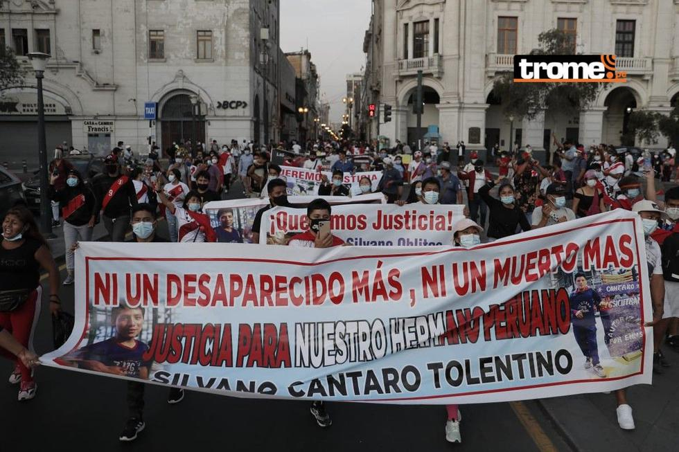 Marcha en reclamo de justicia por Silvano Oblitas Cántaro. (Foto: Renzo Salazar /GEC)