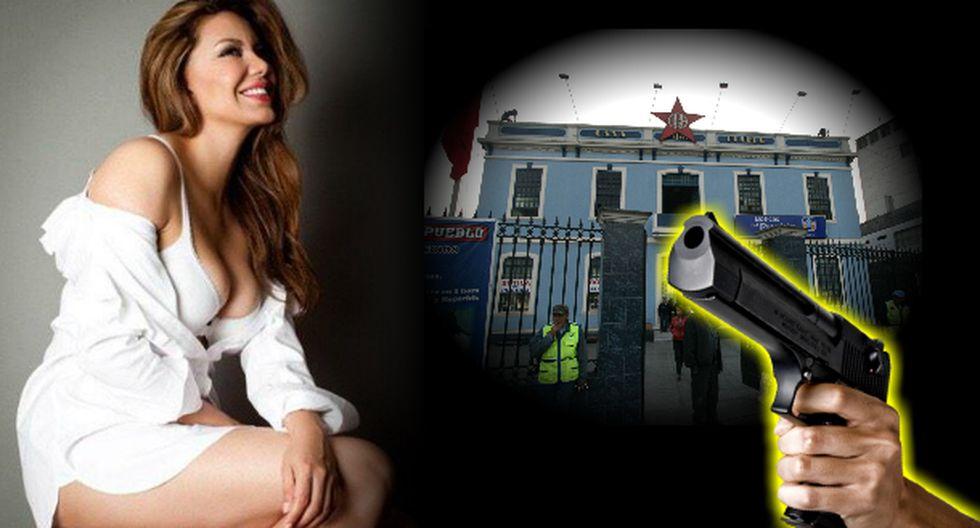Le dispararon a cuñada de Karla Casos desde local del Apra (Composición: Trome)