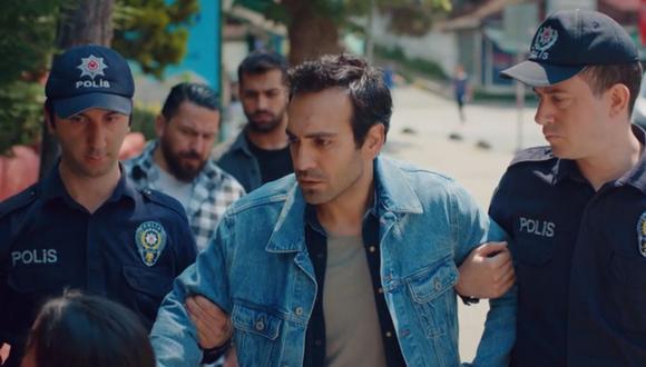 El momento en el que Demir es arrestado tras haber sido acusado de robo (Foto: Mi hija / Med Yapım)