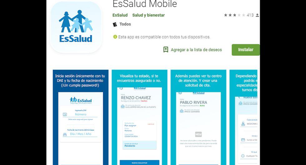 Con la nueva app de EsSalud podrás sacar cita más rápido y sin hacer cola.