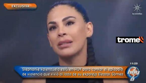 Stephanie Valenzuela reapareció en programa 'Hoy' de México