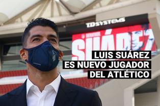Luis Suárez ya posa en el Wanda Metropolitano con la camiseta del Atlético de Madrid