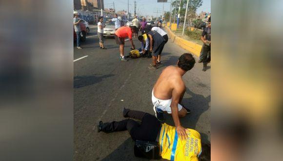 Chofer irresponsable atropelló a dos inspectores de transporte en el Rímac