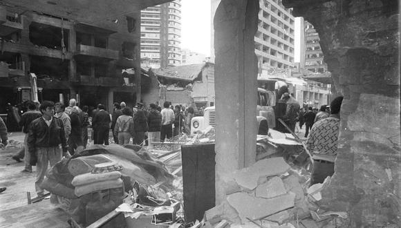 Marcha será en la calle Tarata donde 25 personas murieron durante un ataque terrorista. (Foto: Archivo histórico de El Comercio)