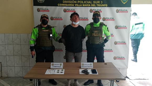 Luis Andre Choquevilca Ávila (36), 'Mamón', fue intervenido en una persecución por asaltar a mano armada al conductor de un auto. (foto: Mónica Rochabrum/Trome)