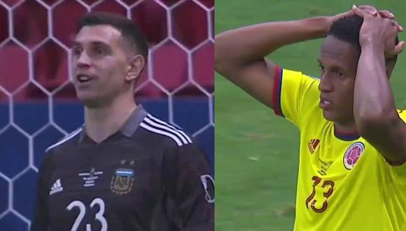 'Dibu' Martínez fue el héroe de Argentina y destacó por el juego psicológico que aplicó con  Yerry Mina