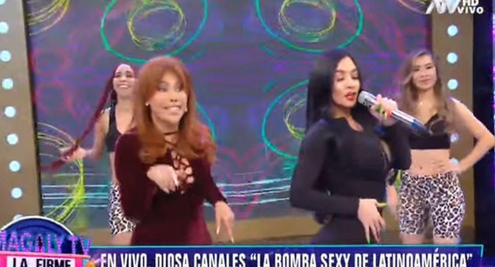 Diosa Canales sorprendió a Magaly Medina en su programa. (Capturas: Magaly Tv. La frime)