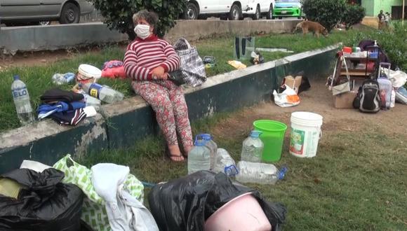 La extranjera vive hace unos días en el parque conocido como Tejadita. (Municipalidad de Surco)
